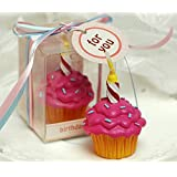 MEOLY Creative Dessert Cake Birthday Candles Charming Gifts Party Candles Smokeless Candles for Party Supplies and Wedding Favor Keepsake Favor(Pink)