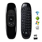 ProChosen C120 2.4 G Mini Wireless Fly Air Mouse with Qwerty Keyboard Gyroscope Remote Control for Kodi Android TV Box PC HTPC Game Media Player Windows Mac OS Linux