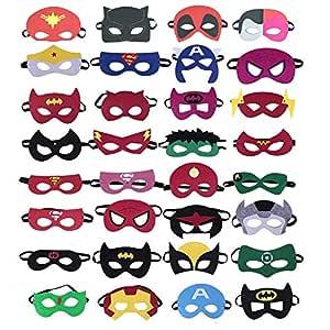 36 piezas de máscaras de superhéroes,máscaras de fiesta de superhéroes para niños,máscaras de ojos para mayores de 3 años,suministros para fiestas de ...