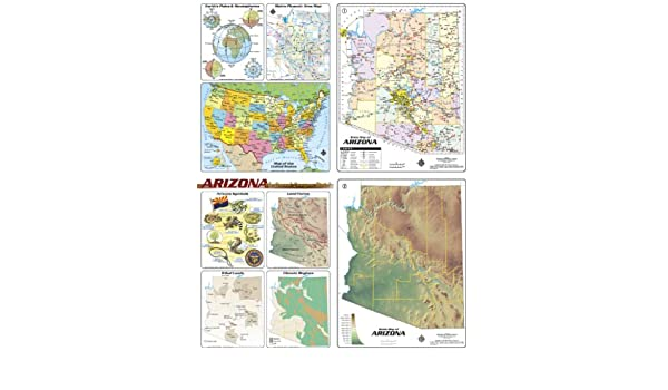 Arizona Desktop Map (office/clroom/study): Phoenix Mapping ... on