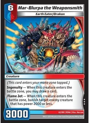 Kaijudo TCG - Mar-Blurpa the Weaponsmith (62/80) - Shattered Alliances by Kaijudo: Rise of the Duel Masters: Amazon.es: Juguetes y juegos