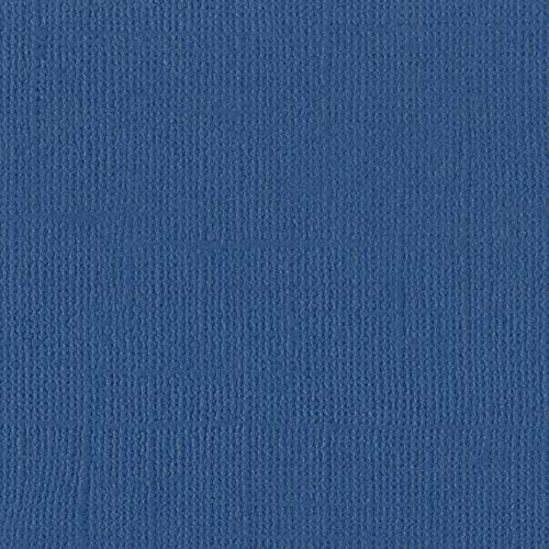 Bazzill Typhoon 12x12 Textured Cardstock | 80 lb Denim Blue Scrapbook Paper | Premium Card Making and Paper Crafting Supplies | 25 Sheets per -