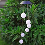 STORE-DECORATIVE - LED Color Changing Solar Power Ball Wind Chimes Yard Home Garden Decor #273303