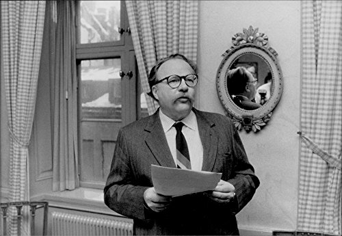 Vintage photo of The author Jan Myrdal receives the Literature Promotion's Great Roman Prize