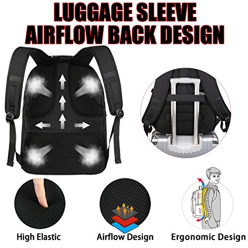 Backpacks for Men, Extra Large Travel Laptop Backpack Gifts for Women Men with USB Charging Port,TSA Friendly Business… 5