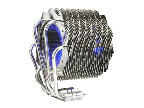 Thermaltake CL-P0466 SpinQ Quiet Copper Heatpipe Univrsal CPU Cooler with Blue LED for Intel LGA 775 and AMD AM2 (775 Pentium Socket D)
