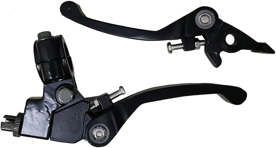 Brake Lever Handlebar Fits for 50cc 90cc 110cc 125cc CRF50 KLX SSR TTR Pit Bike Motorcycle Dirt Bikes 7//8 22mm Black Sliding Folding Clutch Lever