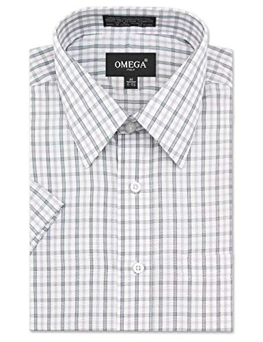 Used, Men's Regular-Fit Light Tone Plaid Short Sleeve Dress for sale  Delivered anywhere in USA