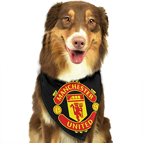 HJKH PJKL Logo Manchester United Pet Dog Puppy Cat Triangle Bibs Scarf Bandana Collar Neckerchief Mchoice - Any Pets