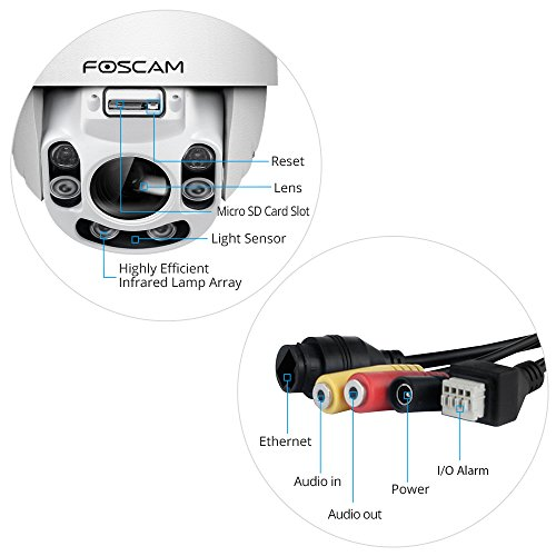 Foscam Outdoor Ptz 4x Optical Zoom Hd 1080p Wifi