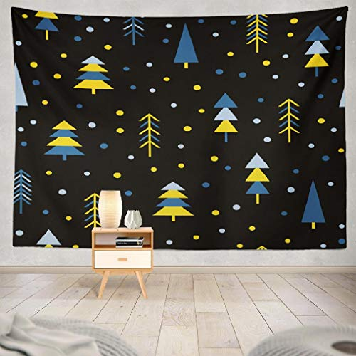 Hdmly Forest Tapestry Wall Hanging Decor, Decorative Wall Tapestry Abstract Forest Childish Simple Cover Card Wallpaper Album 60