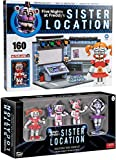 Control Room Sister Location Circus Pack FNoF Sister Nightmare Five Nights at Freddy's Funtime Buildable set + Game Characters Mini Collectible Vinyl Bundle Baby / Freddy / Funtime Foxy / Ballora