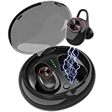 True Wireless Earbuds Bluetooth,Shuua TWS Headphones V4.2 Built-in Mic Long Battery Life 6 Hours Play Time with Charging Case in-Ear Noise Cancelling Sport Earphones