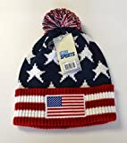 USA Beanie Flag National Team Flag Usa Patriotic American Beanie (Red)