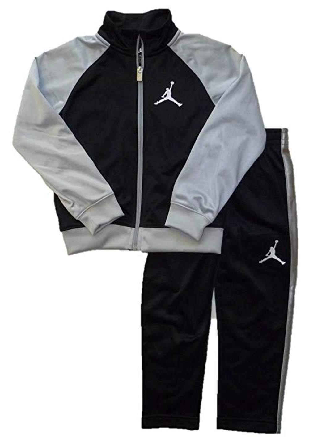 Air Jordan Little Boys Jumpman Zip-up Athletic Jacket and Pants Set (4)
