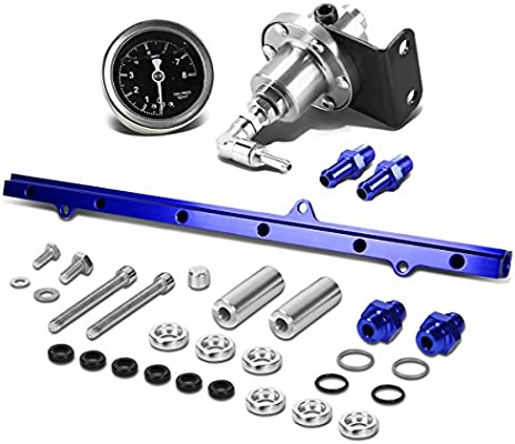 Amazon com: For Supra Top Feed Fuel Injector Rail Kit (Silver)+Fuel
