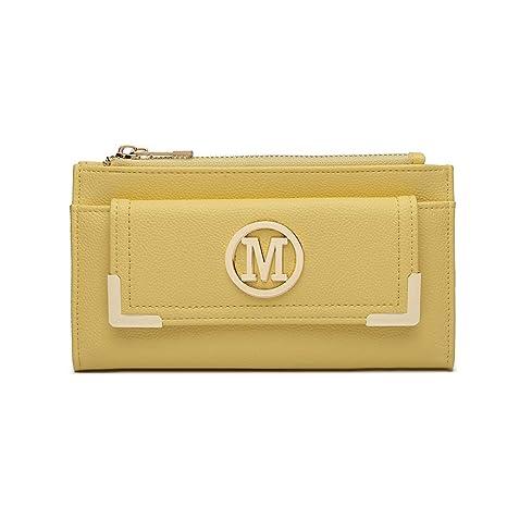 Miss Lulu Cartera Larga para Mujer Gran Capacidad Cuero PU Cartera de Mano con Bolsillo Delantero