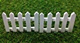 Mini White Wooden Picket Fence for Fairy Mini Garden (2pcs)