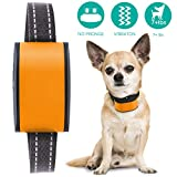 Barklo Vibrating Anti Bark Collar for Medium to Large Dogs to Eliminate Excessive Barking Safely - Easy to Use Effective Bark Control Training Device (Orange)