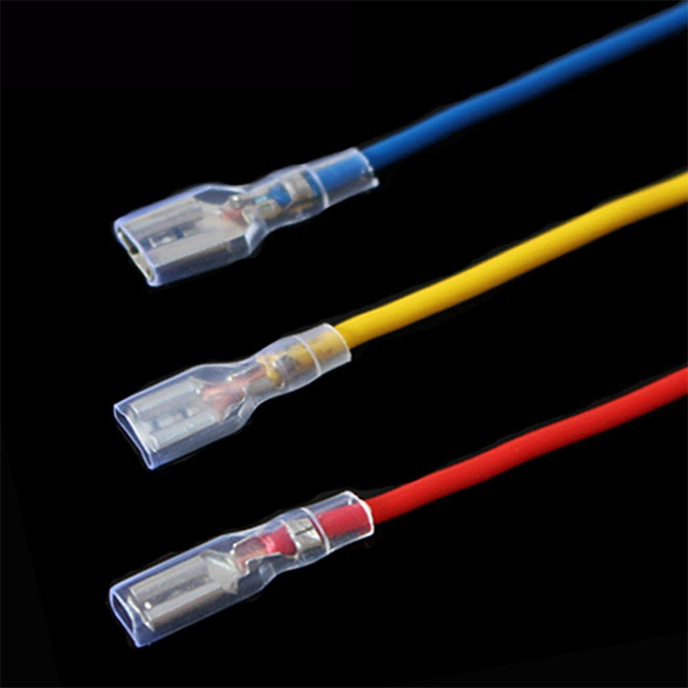 Kabelsteckschuhe,150 stück Flachsteckhülsen Flachstecker Spade ...
