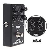 Z-Musical Instruments AS-4 Amplifier Simulator Violao Guitar Electric Effect Pedal True Bypass Black Musical Instrument Parts Electronic