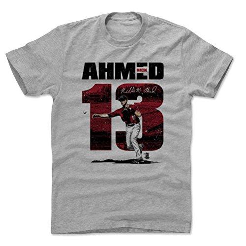 500 LEVEL Nick Ahmed Cotton Shirt XXX-Large Heather Gray - Arizona Baseball Men's Apparel - Nick Ahmed Stadium R