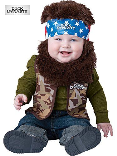 [Duck Dynasty Baby Infant Costume Willie (Brown Beard & Bandana) - Infant Medium] (Duck Dynasty Costumes For Kids)