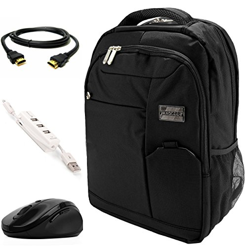 VanGoddy Jet Black Executive Anti-Theft Laptop Backpack w/3P