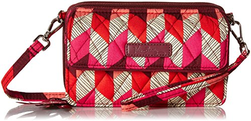 Vera Bradley Wallet With Strap - Vera Bradley Womens' All In One Crossbody for Iphone 6+, Bohemian Chevron, One Size