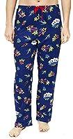 Leisureland Women's Cotton Flannel Pajama Sleepwear Lounge Pants Love Heart Tattoo