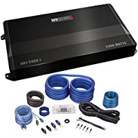 Package: MB Quart DA1-2400.1 2400 Watt RMS Mono Class D Car Audio Amplifier With Bass Remote + Rockville RWK21 2 Gauge AWG Amplifier Wiring Installation Kit With ANL Fuse Holder and RCA Cable
