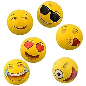 Amazon.com: OIG marcas Emoji pelotas de playa inflable ...