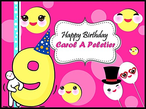 Hp 5 Year Parts (Custom Home Decor Pink Balloons and Emoji Birthday Poster for Girls - Size 24x36, 48x24, 48x36; Personalized Smileys and Balloons Birthday Banner Wall Décor, Handmade Party Favors Poster Print)