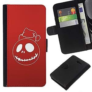 A-type (Red de Navidad Santo) Colorida Impresión Funda Cuero Monedero Caja Bolsa Cubierta Caja Piel Card Slots Para Sony Xperia M2