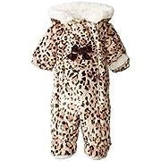 Pistachio Baby-Girls Newborn Faux Fur Animal Print Pram, Brown, 6/9 Months