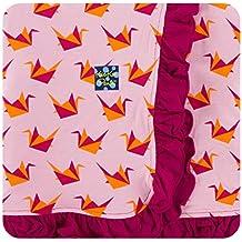 Kickee Pants Print Ruffle Stroller Blanket - Lotus Origami Crane