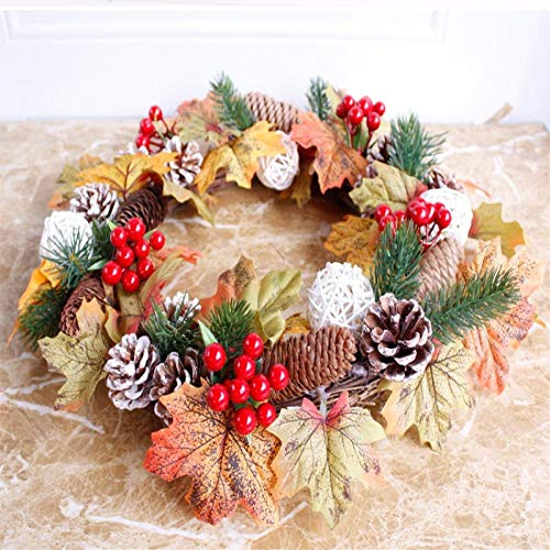 Chlwreath Handmade 3D Christmas red Wreath Imitation Berry Accessories Shooting Props ()