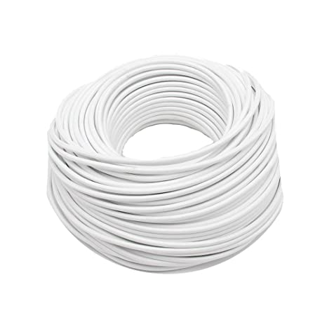 Reachyea - Cable de estilo vintage para lámpara de techo colgante - 3 mx 0,75 mm², blanco