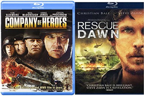Company of Heroes Blu Ray + Rescue Dawn 2 Pack Military Movie Action Next Mission Double Feature Set