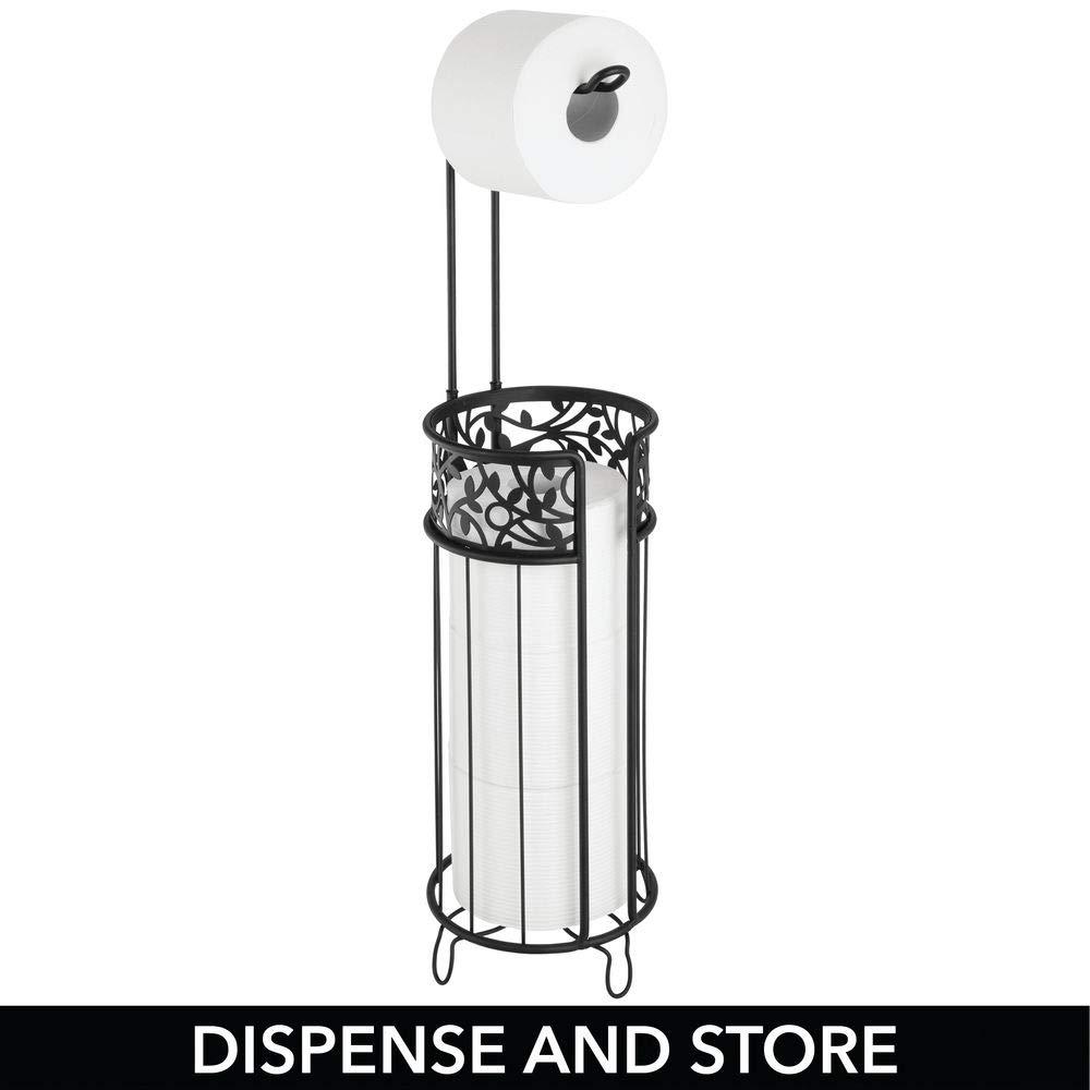 mit Halter f/ür 3 Reserverollen mDesign Toilettenpapierhalter stehend moderner Papierrollenhalter f/ürs Badezimmer bronzefarben Klopapierhalter f/ür mehrere Rollen
