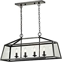 Elk Lighting 31508/4 Alanna - Four Light Pendant, Oil Rubbed Bronze Finish with Clear Glass