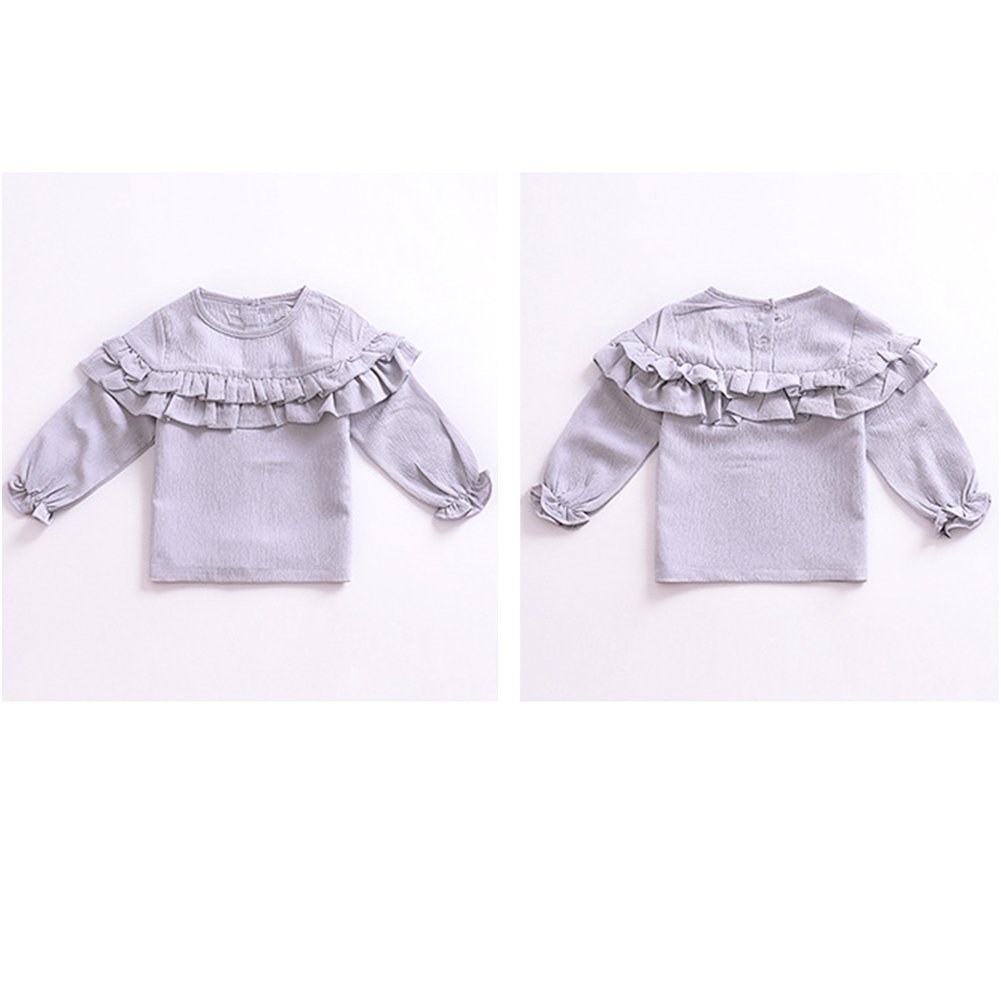 YOHA Baby Girls Spring Autumn Ruffle Top Blouse Long Sleeve Toddler Casual Tops