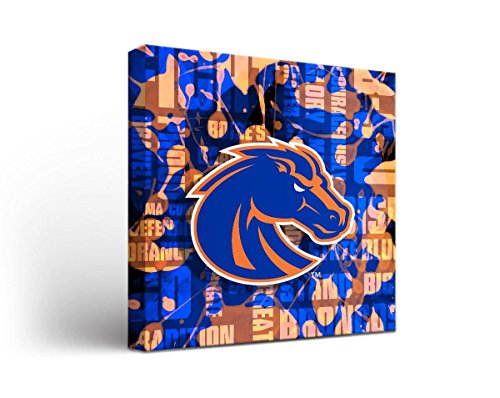 Victory Tailgate Boise State University Broncos Canvas Wall Art Fight Song Design (12x12)