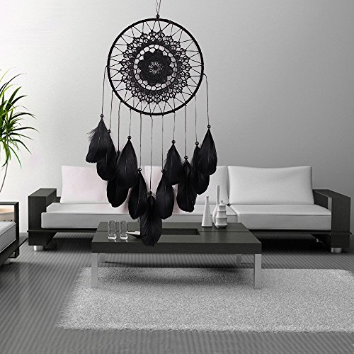 Karleksliv Black big circle black feather Dream Catchers native american indian gifts dreamcathcers MS6013