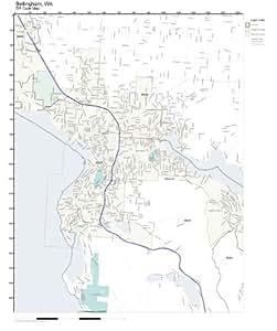 Amazon Com Zip Code Wall Map Of Bellingham Wa Zip Code Map Laminated Home Amp Kitchen