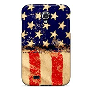 Hard Plastic Galaxy S4 Case Back Cover,hot American Grunge Flag Case At Perfect Diy