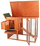 TRIXIE Natura Flat Roof Chicken Coop with Outdoor Run