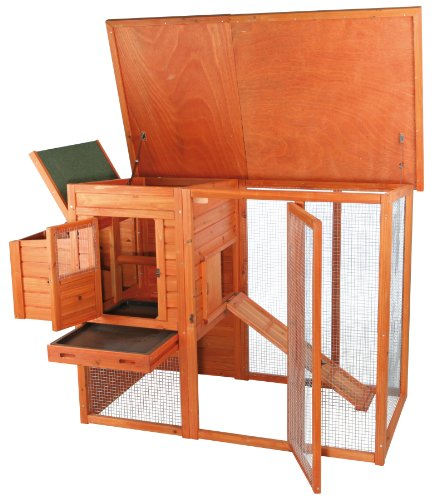 TRIXIE Pet Products Chicken Coop with Outdoor Run, 66.75 x 30.25 x 41.25 inches by TRIXIE Pet Products (Image #2)