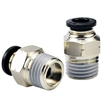 10 per Pack Wanm Pneumatic Push to Connect Tube Fittings 3//8 Tube OD x 3//8 NPT Thread Male Elbow