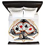 King Duvet Cover Four of a Kind Poker Spade